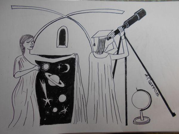 Карикатура: Женщина с покрывалом, Петров Александр