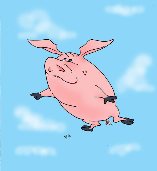 Карикатура: новый год летит, Kapry