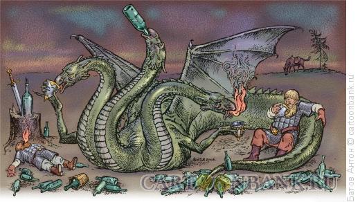 Карикатура: состязание, Батов Антон