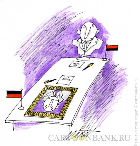 Карикатура: Стол переговоров, Валиахметов Марат