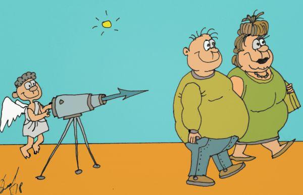 Карикатура: Не тот калибр, Величко Юрий