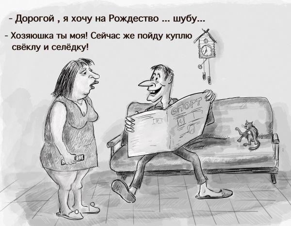Карикатура: Шуба, Владимир Силантьев