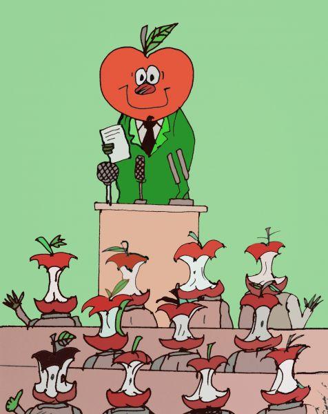 Карикатура: Собрание, Величко Юрий