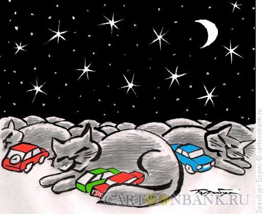 Карикатура: Спящий город, Эренбург Борис