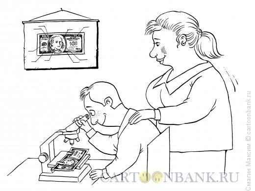 Карикатура: Строение доллара, Смагин Максим