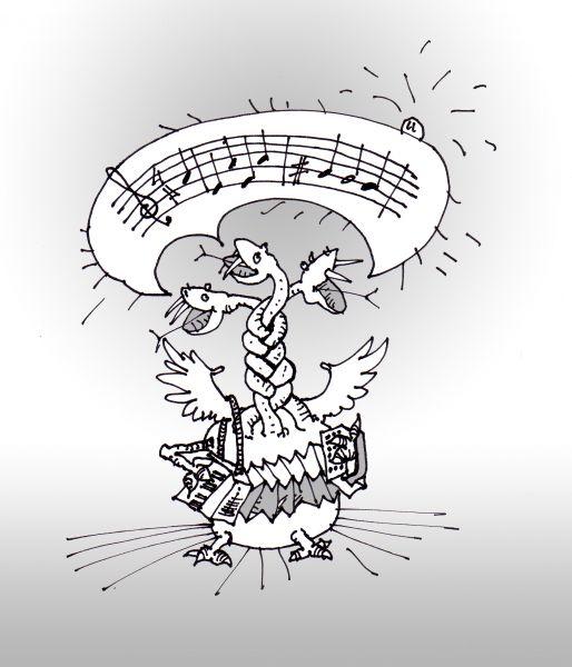Карикатура: А что поем-то???, Юрий Санников