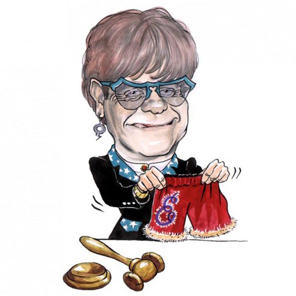 Карикатура: Аукцион сэра Элтона, AZART