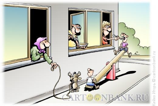Карикатура: Приятное с полезным, Кийко Игорь