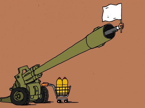 Карикатура: перемирие, михаил ларичев
