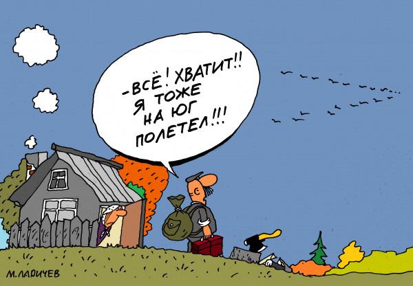 Карикатура: хватит, михаил ларичев