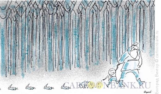 Карикатура: Мальчик-с- пальчик, Богорад Виктор