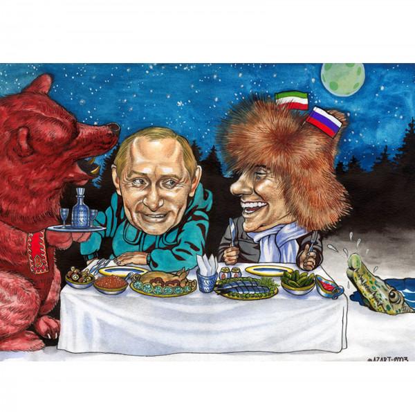 Карикатура: Приключения итальянцев в России, AZART