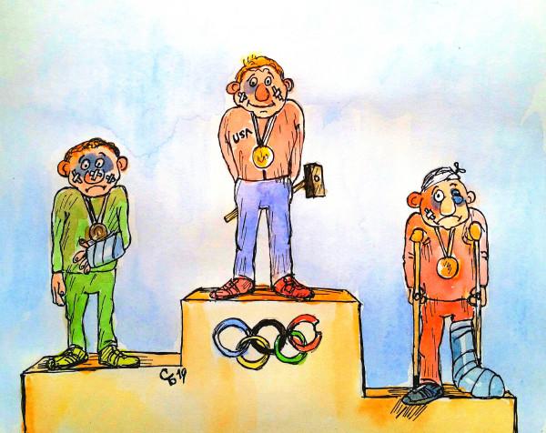 Карикатура: Выиграл сильнейший, Serrega
