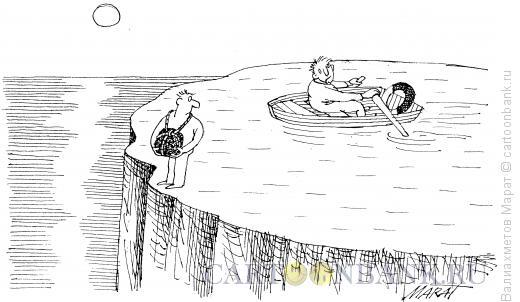Карикатура: Попытка суицида, Валиахметов Марат