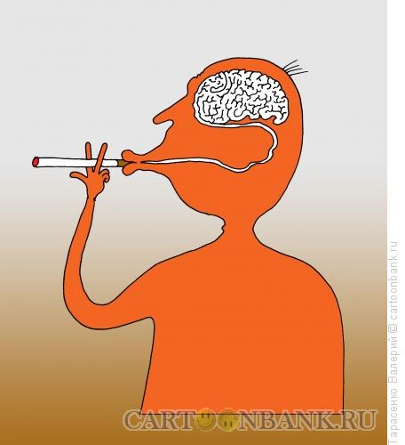 Карикатура: Курильщик, Тарасенко Валерий