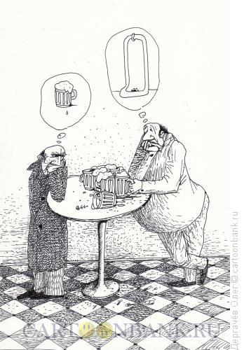 Карикатура: Мечты мужские, Дергачёв Олег