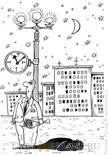 Карикатура: Тень, Мельник Леонид