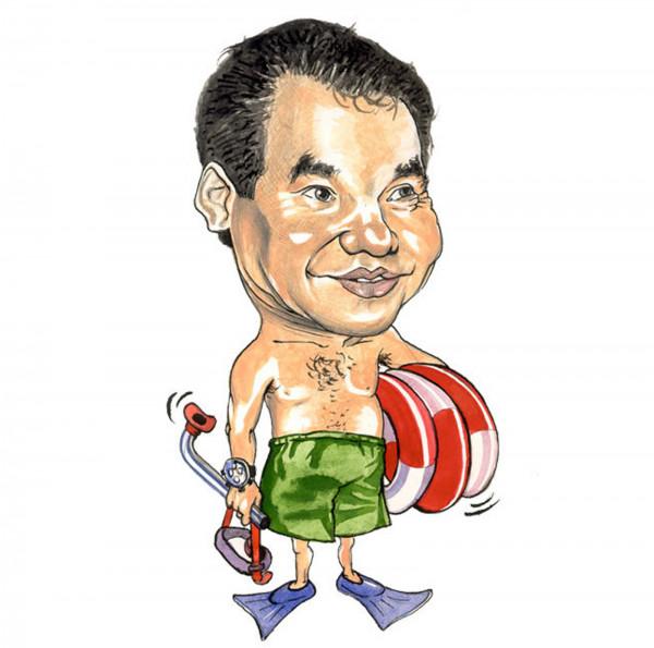 Карикатура: 2000. Спасатель Кужегетыч на готове, AZART