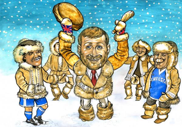 Карикатура: Шаман из Москвы-Лондона, AZART