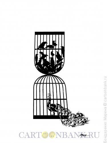Карикатура: Песочные часы, как Клетки, Бондаренко Марина