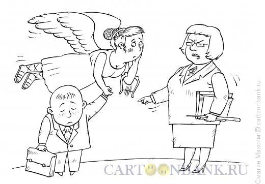 Карикатура: Муза - мама, Смагин Максим