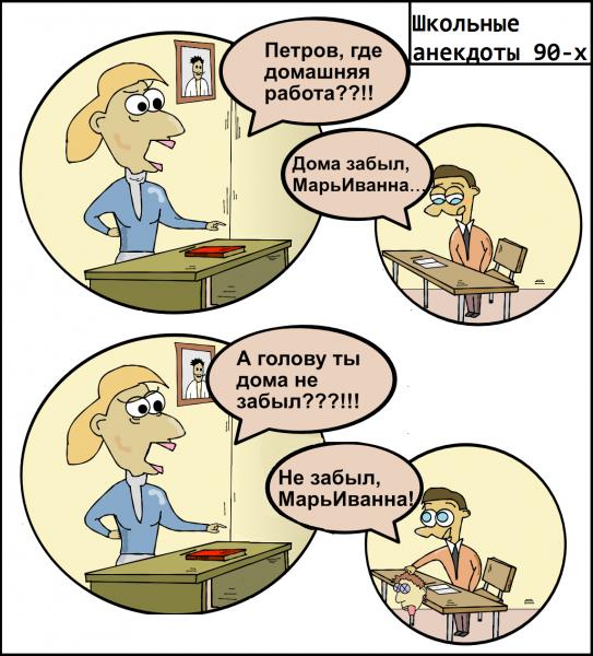 Карикатура: Не забыл, Алекс Хилый