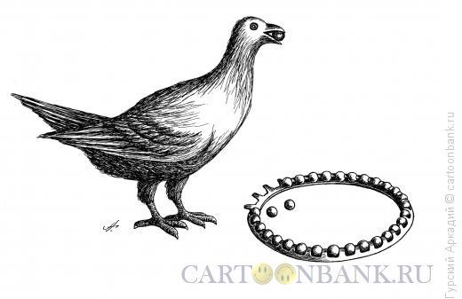 Карикатура: птица и подшипник, Гурский Аркадий