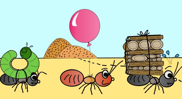 Карикатура: Муравьи-работяги, Алекс Хилый
