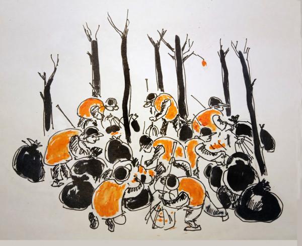 Карикатура: Московский листопад., Perpeta