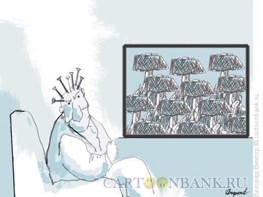 Карикатура: Телевидение, Богорад Виктор