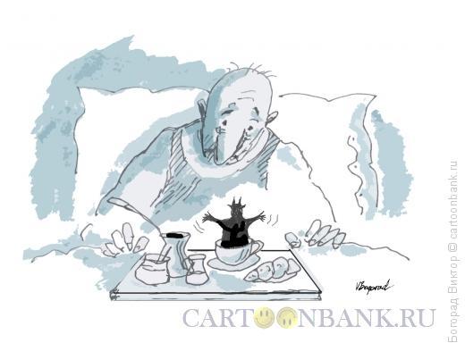 Карикатура: Черный кофе, Богорад Виктор