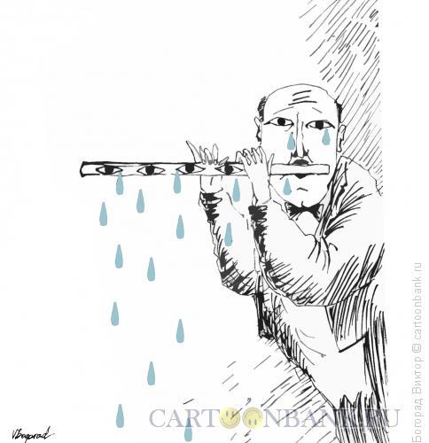 Карикатура: Флейтист, Богорад Виктор