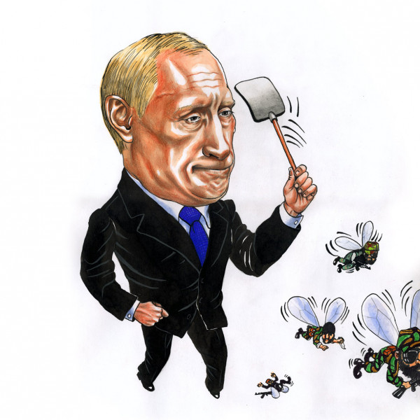 Карикатура: ВВП с терробойкой, AZART