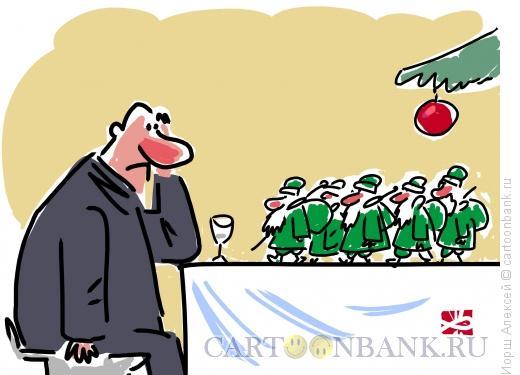 Карикатура: После праздника, Иорш Алексей
