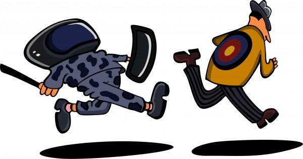 Карикатура: Пятнашки-приседашки, somnambula