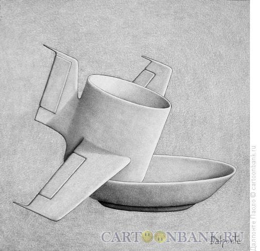 Карикатура: кофе самолет, Далпонте Паоло