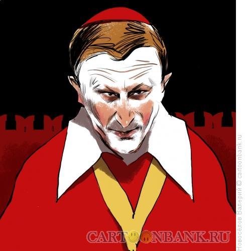 Карикатура: Кремлевский старожил, Новосёлов Валерий