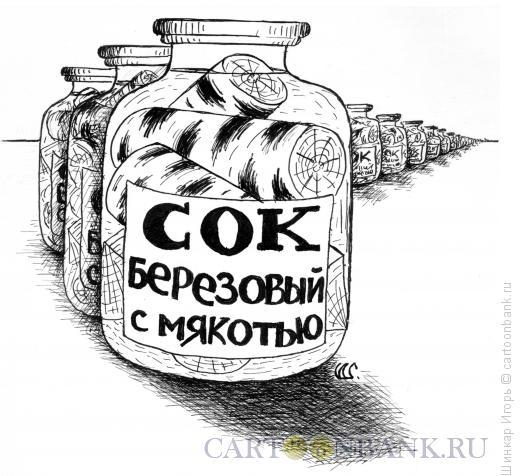 Карикатура: Сок березовый, Шинкар Игорь