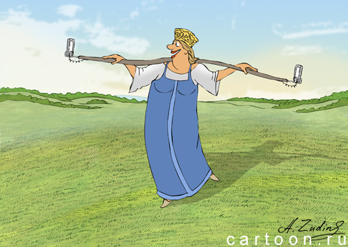 Карикатура: Селфи 2D, Александр Зудин