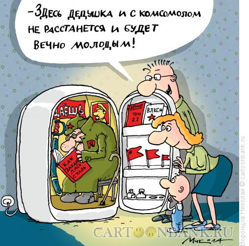Карикатура: Заморозка, Воронцов Николай