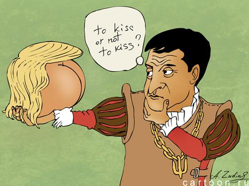 Карикатура: репетиция, Александр Зудин