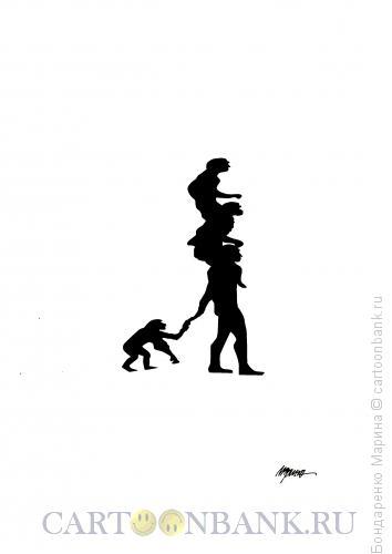 Карикатура: Эволюция человека, Бондаренко Марина