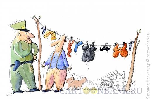 Карикатура: Шпион, Яковлев Александр