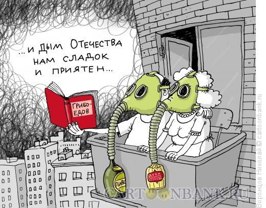Карикатура: Смог в Москве, Воронцов Николай