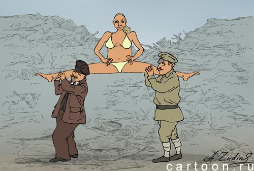 Карикатура: Волочкова на субботнике, Александр Зудин