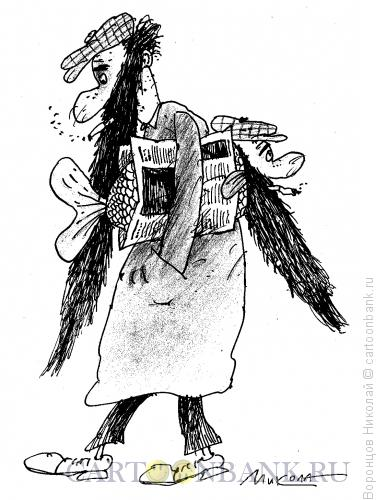 Карикатура: Алкоголик Бородюк, Воронцов Николай