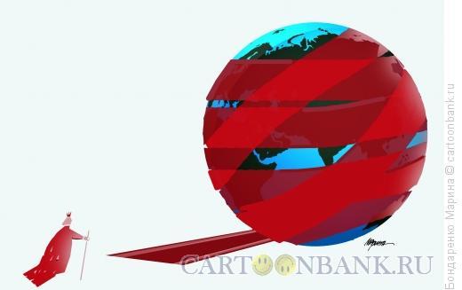 Карикатура: Король Земля Власть, Бондаренко Марина