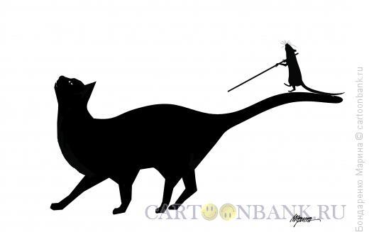 Карикатура: Кошка, мышка, Эквилибрист, Бондаренко Марина