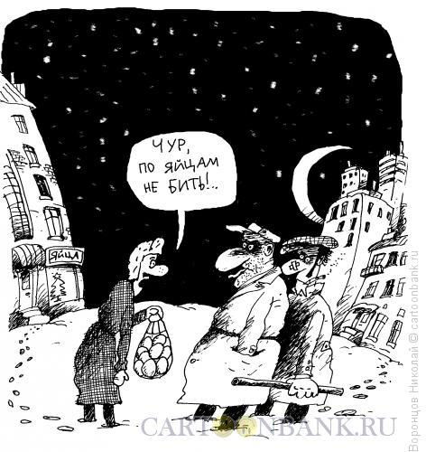 Карикатура: По яйцам не бить!, Воронцов Николай