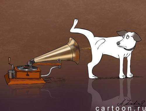 Карикатура: Собачий блюз, Александр Зудин